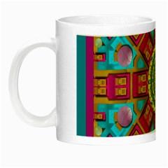 Sunny And Bohemian Sun Shines In Colors Night Luminous Mugs by pepitasart