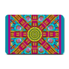 Sunny And Bohemian Sun Shines In Colors Small Doormat  by pepitasart