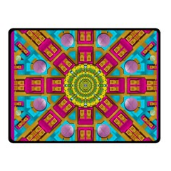 Sunny And Bohemian Sun Shines In Colors Fleece Blanket (small)