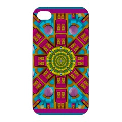 Sunny And Bohemian Sun Shines In Colors Apple Iphone 4/4s Premium Hardshell Case by pepitasart