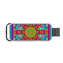 Sunny And Bohemian Sun Shines In Colors Portable Usb Flash (two Sides) by pepitasart