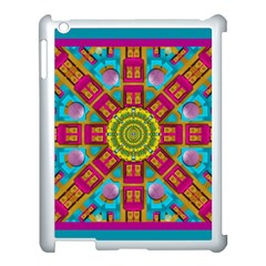 Sunny And Bohemian Sun Shines In Colors Apple Ipad 3/4 Case (white) by pepitasart