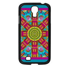 Sunny And Bohemian Sun Shines In Colors Samsung Galaxy S4 I9500/ I9505 Case (black) by pepitasart
