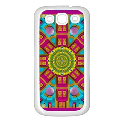Sunny And Bohemian Sun Shines In Colors Samsung Galaxy S3 Back Case (white) by pepitasart