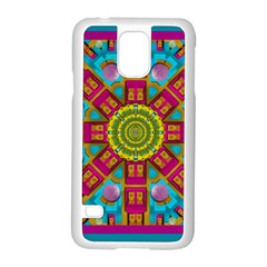 Sunny And Bohemian Sun Shines In Colors Samsung Galaxy S5 Case (white) by pepitasart