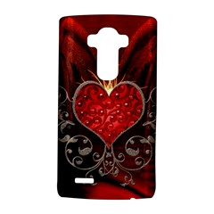 Wonderful Heart With Wings, Decorative Floral Elements Lg G4 Hardshell Case by FantasyWorld7