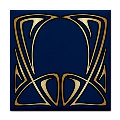 Art Nouveau,vintage,floral,belle Époque,elegant,blue,gold,art Deco,modern,trendy Face Towel by 8fugoso
