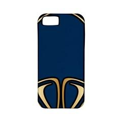Art Nouveau,vintage,floral,belle Époque,elegant,blue,gold,art Deco,modern,trendy Apple Iphone 5 Classic Hardshell Case (pc+silicone) by 8fugoso