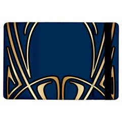 Art Nouveau,vintage,floral,belle Époque,elegant,blue,gold,art Deco,modern,trendy Ipad Air Flip by 8fugoso