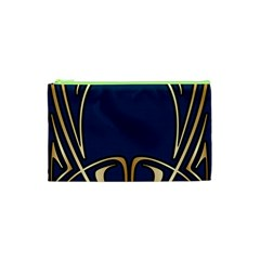 Art Nouveau,vintage,floral,belle Époque,elegant,blue,gold,art Deco,modern,trendy Cosmetic Bag (xs)