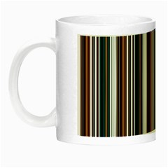 Pear Blossom Teal Orange Brown Coordinating Stripes  Night Luminous Mugs by ssmccurdydesigns