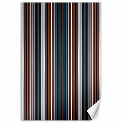 Pear Blossom Teal Orange Brown Coordinating Stripes  Canvas 20  X 30   by ssmccurdydesigns