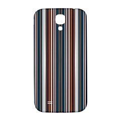 Pear Blossom Teal Orange Brown Coordinating Stripes  Samsung Galaxy S4 I9500/i9505  Hardshell Back Case by ssmccurdydesigns