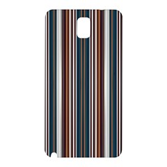 Pear Blossom Teal Orange Brown Coordinating Stripes  Samsung Galaxy Note 3 N9005 Hardshell Back Case by ssmccurdydesigns