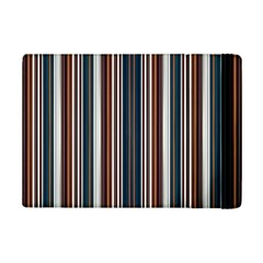 Pear Blossom Teal Orange Brown Coordinating Stripes  Ipad Mini 2 Flip Cases by ssmccurdydesigns