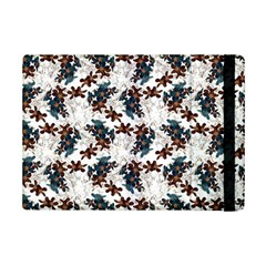 Pear Blossom Teal Orange Brown  Ipad Mini 2 Flip Cases by ssmccurdydesigns