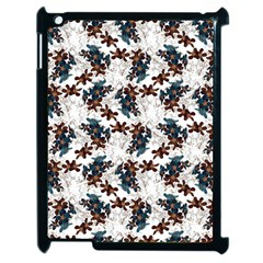 Pear Blossom Teal Orange Brown  Apple Ipad 2 Case (black) by ssmccurdydesigns