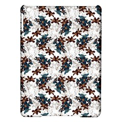 Pear Blossom Teal Orange Brown  Ipad Air Hardshell Cases by ssmccurdydesigns