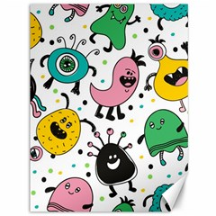Cute And Fun Monsters Pattern Canvas 36  X 48   by allthingseveryday