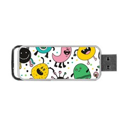 Cute And Fun Monsters Pattern Portable Usb Flash (one Side) by allthingseveryday