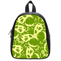 Pale Green Butterflies Pattern School Bag (small) by allthingseveryday