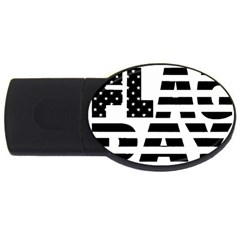 Flag Day Flag USB Flash Drive Oval (2 GB) by CustomYourOwn