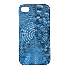 Gateway Pattern Blue 3 Apple Iphone 4/4s Hardshell Case With Stand by Cveti