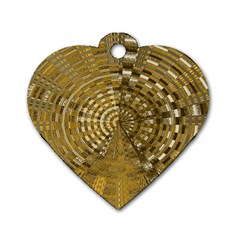 Gatway To Thelight Pattern 4 Dog Tag Heart (one Side) by Cveti