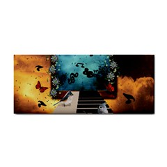 Music, Piano With Birds And Butterflies Cosmetic Storage Cases by FantasyWorld7