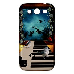 Music, Piano With Birds And Butterflies Samsung Galaxy Mega 5 8 I9152 Hardshell Case  by FantasyWorld7