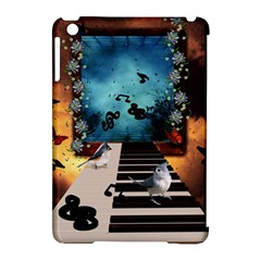 Music, Piano With Birds And Butterflies Apple Ipad Mini Hardshell Case (compatible With Smart Cover) by FantasyWorld7
