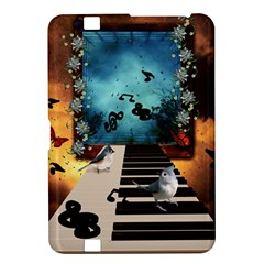 Music, Piano With Birds And Butterflies Kindle Fire Hd 8 9  by FantasyWorld7
