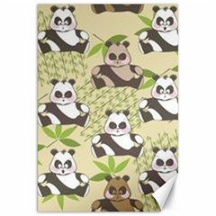 Fun Panda Pattern Canvas 20  X 30   by allthingseveryday