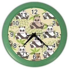 Fun Panda Pattern Color Wall Clocks by allthingseveryday