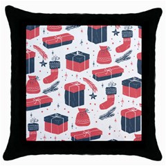 Christmas Gift Sketch Throw Pillow Case (black) by patternstudio