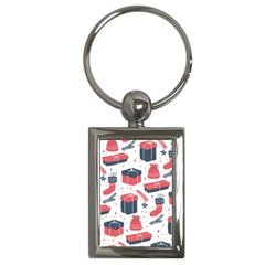 Christmas Gift Sketch Key Chains (rectangle)  by patternstudio