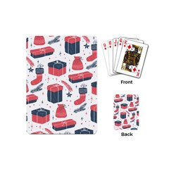 Christmas Gift Sketch Playing Cards (mini)  by patternstudio