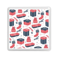 Christmas Gift Sketch Memory Card Reader (square)  by patternstudio