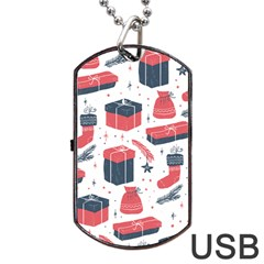 Christmas Gift Sketch Dog Tag Usb Flash (one Side) by patternstudio