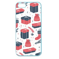 Christmas Gift Sketch Apple Seamless Iphone 5 Case (color) by patternstudio