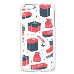 Christmas Gift Sketch Apple Iphone 6 Plus/6s Plus Enamel White Case by patternstudio