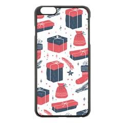 Christmas Gift Sketch Apple Iphone 6 Plus/6s Plus Black Enamel Case by patternstudio