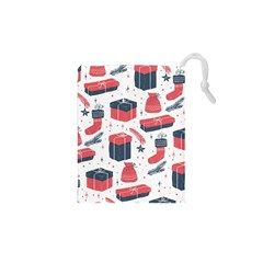 Christmas Gift Sketch Drawstring Pouches (xs)  by patternstudio