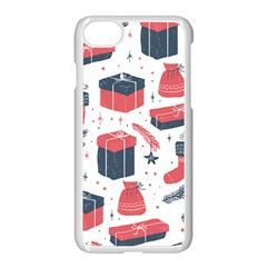 Christmas Gift Sketch Apple Iphone 7 Seamless Case (white) by patternstudio