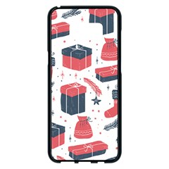 Christmas Gift Sketch Samsung Galaxy S8 Plus Black Seamless Case by patternstudio
