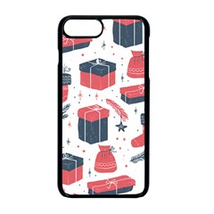 Christmas Gift Sketch Apple Iphone 8 Plus Seamless Case (black) by patternstudio
