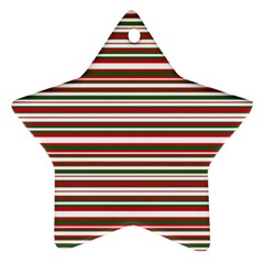 Christmas Stripes Pattern Ornament (star) by patternstudio