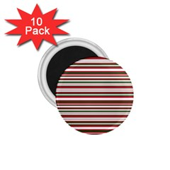 Christmas Stripes Pattern 1 75  Magnets (10 Pack)  by patternstudio