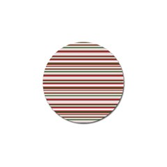 Christmas Stripes Pattern Golf Ball Marker (10 Pack) by patternstudio