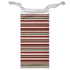 Christmas Stripes Pattern Jewelry Bag by patternstudio